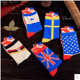 Wholesale The United States Germany Chile Sweden the UK flag socks men and women cotton couples socks cotton socks in the four seasons