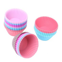 Wholesale Silicone Cake Mold Muffin Cupcake Baking Dishes Pan Form to Bake Cake Dessert Decorating Tools Bakeware Kitchen Dining Bar BY DHL