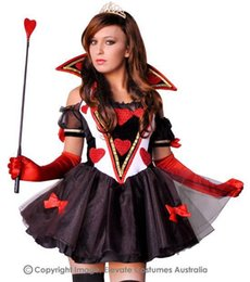 Wholesale 2015 Rushed Fantasias Femininas Halloween of Hearts of Spades Installed Temperament Princess Dress Costume Cosplay Nightclub Ds