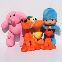 BANDAI Plush Pocoyo Plush Doll Large Doll Lovely Pato Elly Loula Cartoon Figure Toys plush doll Free shipping