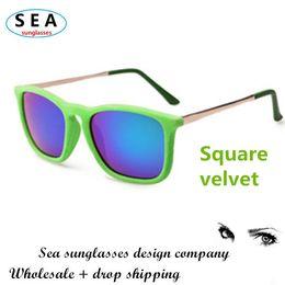 SEA square Velvet sunglasses women brand designer oculos de sol feminino vintage glasses gafas masculino metal sunglass s0489