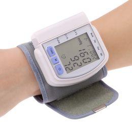 New Sphygmomanometer Digital LCD Display Wrist Cuff Blood Pressure Monitor Health Care Heart Beat Rate Pulse Meter Tester