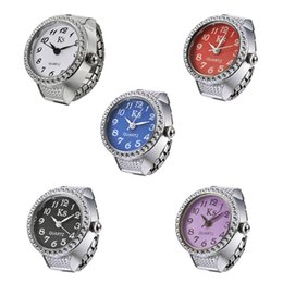 Wholesale-Ladies watch Delicate Quartz Watch Inlaid Rhinstone Multi-Colored Dial Watch Ring BS88