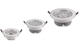 3W 5W 7W 9W 12W LED Downlights Ceiling Spot Lights Lamp AC 85-265V Warm white Natural white Cool white 30 Degrees Beam Angle Good Heat Sink