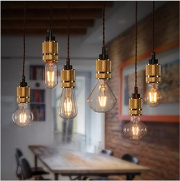 Wholesale High quality Pendant lamp Loft Northern Europe american vintage retro country Aluminium Plated holder pendant light