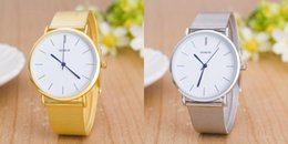 Mujer del estilo de reloj resistente al agua en Línea-New Style Moda Hombres Mujeres Hombres Relojes de lujo superior de la marca de reloj de cuarzo de acero correa de visita del oro de la astilla Relojes Relojes impermeables