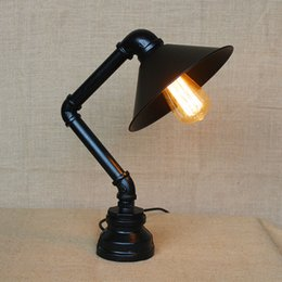 Wholesale Industrial Water Table Lamp for Study Room Advanced Forging Process Black and White Thanks Giving Day Gifts