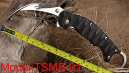 Wholesale New TwoSun Knives Mirror J2 Hook Cut Blade Karambit Outdoor Hunting Folding Pocket Claw G Handle Knife TSMB