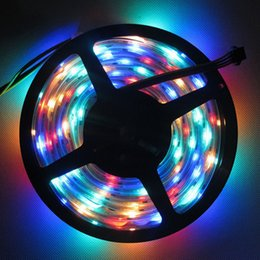 Wholesale best price DC5V M WS2801 leds m RGB Addressable Full Color LED Strip Arduino development ambilight TV for Party Decoration