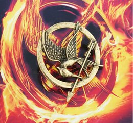 Wholesale The Hunger Games Brooches Inspired Mockingjay And Arrow Hot Movie Hunger Games Bird Brooch Pins For Women And Men