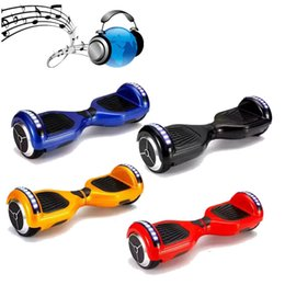 NO TAX USA EU Stock Hoverboard Bluetooth LED Scooter Electric Skateboard Self Balancing Wheel Smart Balance Scooter 6.5 inch Two Wheels