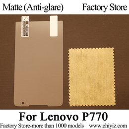 Wholesale-Matte Anti glare Frosted LCD Screen Protector Guard Cover Protective Film Shield For Lenovo P770