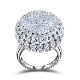 ORSA Charming Platinum Plated 218 Pieces 2mm Zircon Full Paved Round Shaped Vintage Ring Very Beautiful Ring OR48