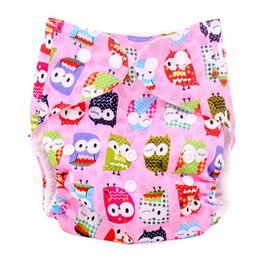 Wholesale Baby Waterproof Diaper Cover High Quality Cartoon Printed Washable Cloth Diaper Covers Reusable Nappy