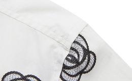 Wholesale-New Model Men Fashion Dress Shirts Plus Size M-3XL Floral Printed Man Cotton Casual Tee Shirts White Clothing