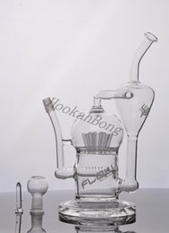 Newest JM Flow 13 inchs glass bong glass water pipes glass bongs with 14.4mm joint with Inline Perc Recycler