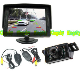 "Wireless Night Vision Car Rear View Kit 7 IR LED Reversing Parking Reverse Camera + 4.3"" LCD Monitor Backup system"