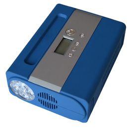 Wholesale Electric Car Tire Inflator V Portable Digital Electronic Car Compressor with LED Light hottest DHL Free