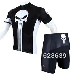 Promotion cuissard vente FG1509 vente chaude 2015 nouveaux hommes Cycling Jersey + Shorts Set Bike Vêtements Paladin Sport Punisher S-3XL