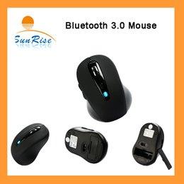 Wholesale Wireless Bluetooth Mouse Mice DPI Adjustable Optical Mouse For Windows XP Vista MAC Laptop Notebook