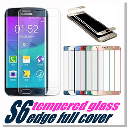 Wholesale For iPhone Galaxy S6 S7 Full Screen Protector Tempered Glass S6 edge Plus Cover Whole Screen Curve Screen Protector With Retail Package