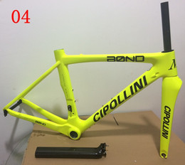 Wholesale MCipollini Cipollini Bond Fluo yellow carbon bike frame frames Cipollini full carbon bike frameset BB386 glossy matte colors for choice