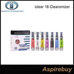 Original Innokin iClear 16 Clearomizer with dual coil Electronic Cigarette ecig Round Mouth Atomizer (1.6ml) 2.1ohm rebuildable dual coil