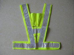 Wholesale adult high visibility security vest reflective safety traffic vest working vest with reflective strip