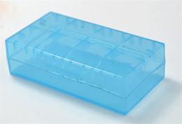 Wholesale Portable Battery Storage Box Case Battery Holder Safety Box for VTC5 VTC4 MNKE Batter In Stock DHL fast shipping