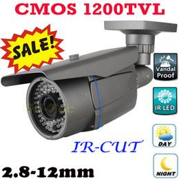 Descuento línea de hd Alta resolución 1200TV líneas de vídeo del monitor de la cámara térmica Amplia Instalar ángulo de Vigilancia de Seguridad Bullet impermeable Sistema de interior al aire libre