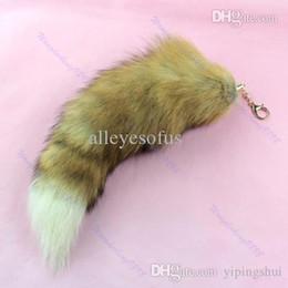 2017 chaîne grand sac Vente en gros-nouveau Hot Large Fox Tail Fur Tassel Bag Tag Keychain Strap Chain budget chaîne grand sac