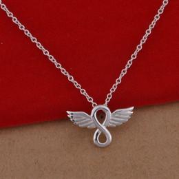 Anges ailes à vendre-925 collier en argent sterling version coréenne de la populaire ange ail collier bijoux commerce de gros