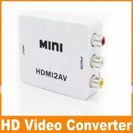 Wholesale RCA to HDMI AV to HDMI P AV2HDMI Mini AV to HDMI Converte Signal Converter for TV VHS VCR DVD Records Chipsets Shown OM CD8