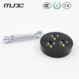 Wholesale 12VDC Black housing W dimmable led puck lights Highest Luminous LM led puck cabinet light CE ROHS approved
