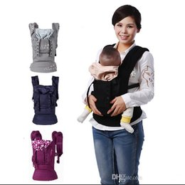 Wholesale ergonomic Baby Carrier organice New Four Position Multifunction Infant Carrier Backpack Kid Carriage Toddler Sling Wrap