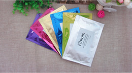 Wholesale 100pcs Fibroin Cosmetics Makeup Three layers of Fibroin Acme whitening Moisturizing Hydrating Firming Facial Mask colors choice