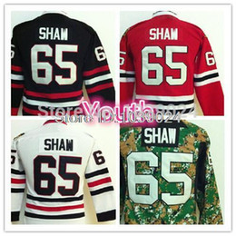 Top Quality Boys 65 Andrew Shaw Hockey Jerseys Kids Black White Red Camo Green Youth Andrew Shaw Jersey Fast Shipping