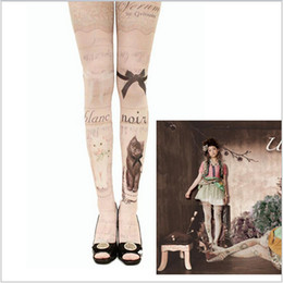 Wholesale 2015 color summer women female Velvet silk stockings cat devil high tattoo pants socks leg warmers tights leggings Hosiery TOPB2593
