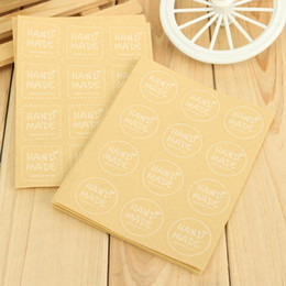 120pcs Packaging Label Kraft Paper Craft Sealing Stickers Scrapbooking Envelopes Cupcake Hand Made Labels