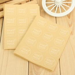 120pcs Packaging Label Kraft Paper Craft Sealing Stickers Scrapbooking Envelopes Cupcake Hand Made Labels