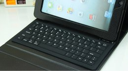 Bluetooth Wireless Keyboard Leather Case For iPad Mini 1 2 Ipad Air 5 TAB4 T530 T230 T330 7''8''10'' Protective Lined For Ipad With Keyboard