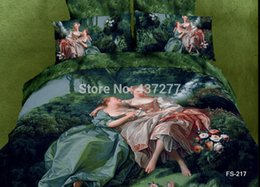 Wholesale Marilyn Monroe Bedding - Wholesale-4pc Oil Painting queen cotton Marilyn Monroe 3d people bedding sets bed clothes with sheet duvet cover bedspread bed sets