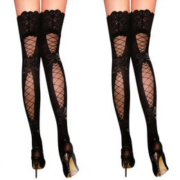 Wholesale New Fashion Womens sexy Socks Sexy Womens Lace Top Thigh High Stockings Pantyhose