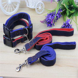2015 new Pet Dog Collars Leads Leash harness Adjustable nylon red and blue color lead for cats dogs Pet Products Free shipping!
