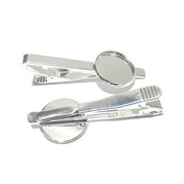 Beadsnice lazo clip en blanco con 18mm redondo cabochon ajuste de latón moda joyas tie clip partes para su joyería haciendo ID 23045 desde piezas de joyería de moda fabricantes