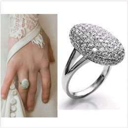 Wholesale NEW Women s Wedding Rings Engagement Ring Crystal Jewelry Zircon Size DH04