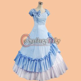 Wholesale Custom Made Beautiful Southern Civil War Belle Ball Gowns dress Cosplay Costume