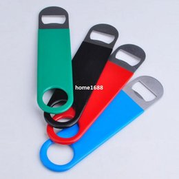 Wholesale 2015 hot sale stainless speed opener and fanny bottle opener with pvc coating