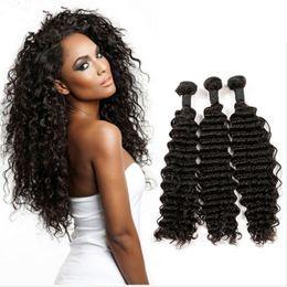 Cheap Human Hair Malaysian Deep Wave 7A Malaysian Virgin Hair 3 Bundles Malaysian Deep Curly Virgin Hair Weave Maylasian Curly