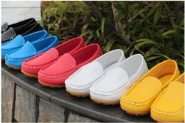 Children's Shoes rubber Soft Sole Casual Flats Boat Shoes Hot Sale Children Shoes Kids PU Leather Sneakers Boys&Girls